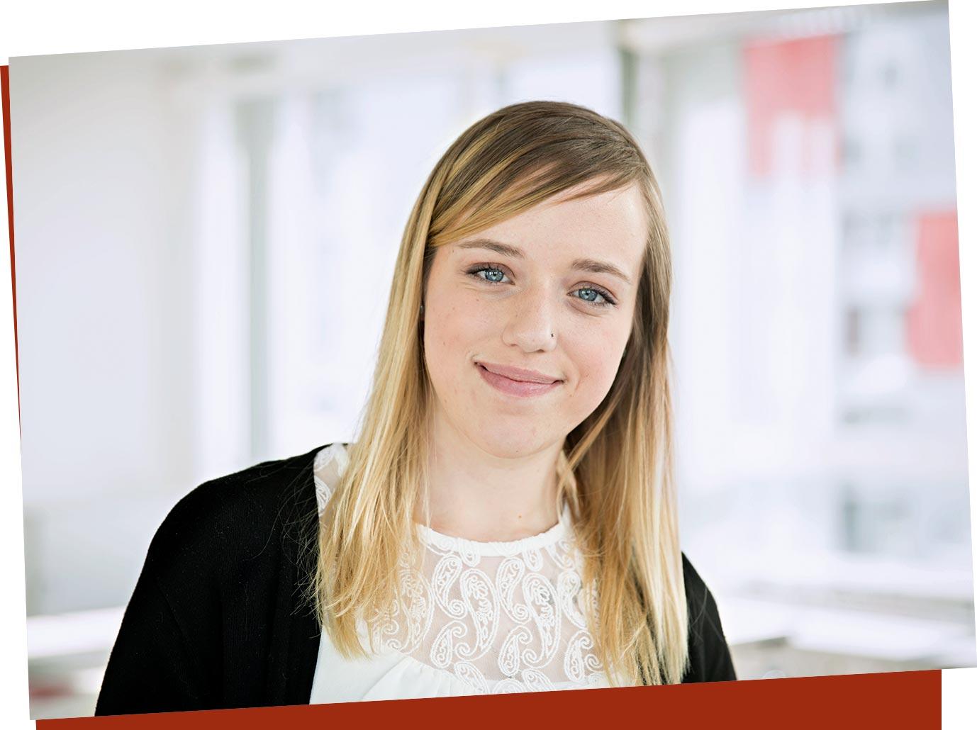 Katja, Kauffrau für Büromanagement mit Zusatzqualifikation Forderungsmanagement