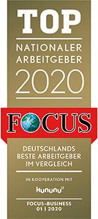 """Das Magazin Focus bewertete EOS als """"Top Nationaler Arbeitgeber 2020"""""""